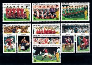 [59669] Bequia Gren. Of St. Vincent 1986 World Cup Soccer Football Mexico MNH