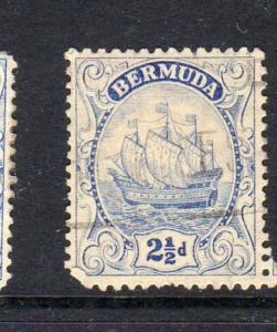 BERMUDA #87  1932  2 1/2p CARAVEL    F-VF USED  d