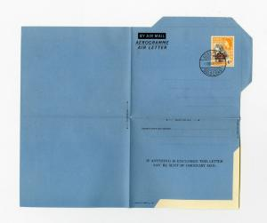 Ghana Air Letter Sheet 1957 w/ Stamp cancel Gold Coast clean