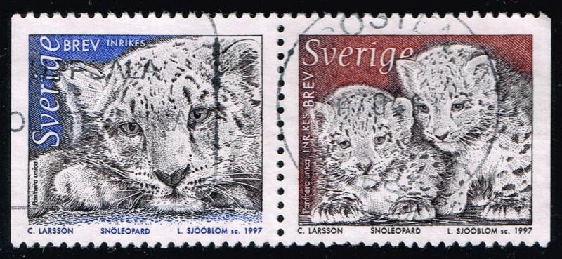 Sweden #2221-2222 Panther pair; Used (0.70)