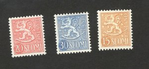 FINLAND-MH SET-Coat of arms on lined ground-1956/1957.