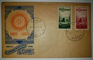 O) 1955 SYRIA, ROTARY INTERNATIONAL, OMAYYAD MOSQUE SC C189 35p - SC C190 65p