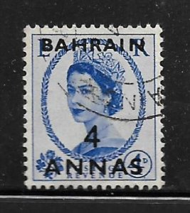BAHRAIN, 100, USED,GREAT BRITAIN STAMPS SURCHD