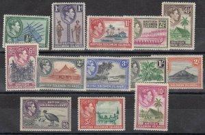 Solomon Islands KGVI 1939 Set To 10/- SG60/72 MLH J7583
