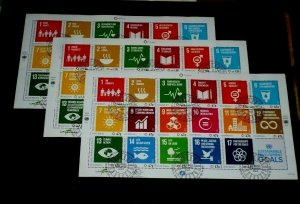 U.N. 2016, SUSTAINABLE DEVELOPMENT GOALS, ALL,3 OFFICES SHEETS/17, CTO,NICE LQQK