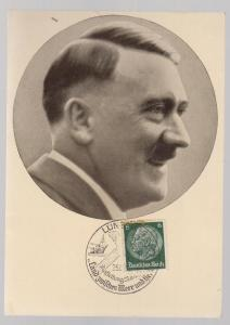 1937 BW RPPC Adolph Hitler Real Picture Postcard Cover