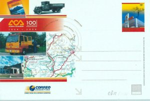 93401 - ARGENTINA - POSTAL HISTORY - Stationery CARD 2004 - Transport MAPS