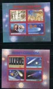 Montserrat 1986 Halley's Commet 2 Souvenir Sheets Imperf  MNH 5440