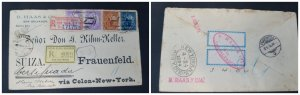 O) 1894 EL SALVADOR, LIBERTY, B. HAAS AND CIA, VIA COLON NEW YORK TO SWITZERLAND