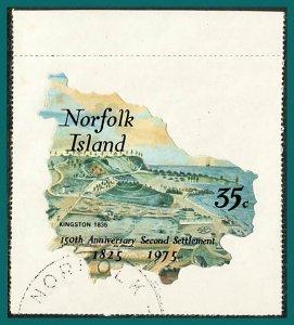 Norfolk Island 1975 Settlement, 35c CTO #186,SG164