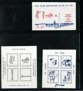 US Stamps Specialized Mr. Zip Forerunner Sheet-let Collection