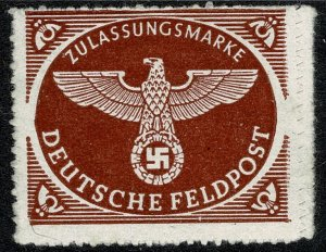 GERMANY 1942 MILITARY FEILD POST PARCELS MINT (NH) SG M805 P.13.5 FINE