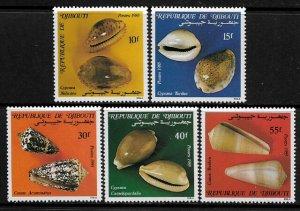 Djibouti #603-7 MNH Set - Seashells