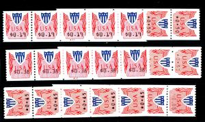CVP31-33 (6) Mint Strips of 5 2 with PL#'s