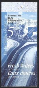Canada Sc# BK228a Booklet MNH 2000 55¢ Fresh Waters
