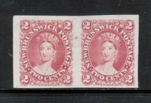 New Brunswick #7TC Very Fine Proof Pair In Rose On India