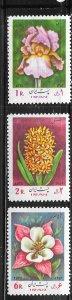 Iran #1711-1713 Flowers   (MH) CV $2.75