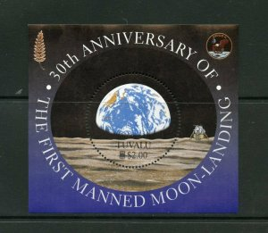 TUVALU  30th ANNIVERSARY OF THE FIRST MOON LANDING  SOUVENIR SHEET  MINT NH