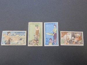 Laos 1957 Sc 37-40 UN set MNH