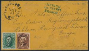#68 & #76 ON COVER TO EUROPE CV $825 HV8060