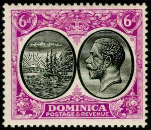 DOMINICA SG82, 6d black & bright magenta, LH MINT.