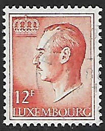 Luxembourg # 573 - Grand Duke Jean - 12F - used...(KlGr)