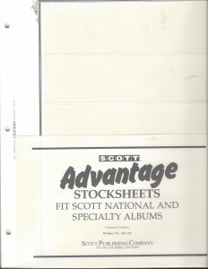 SCOTT ADVANTAGE 10 -  5 POCKET STOCK SHEETS, NEW, RETAIL $19.95, SHIP $3.00