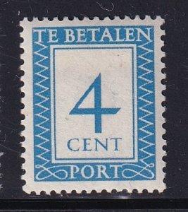 Netherlands  #J82  MH  1947   postage due  4c