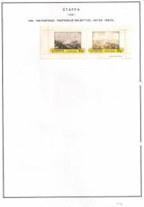 SCOTLAND - STAFFA - 1981 - Paintings of Sea Battles - Imperf 2v Sheet - MLH