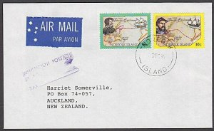 NORFOLK IS 1995 cover large size INSUFFICIENT POSTAGE handstamp.............A739
