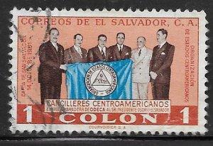 SALVADOR 672 U PRESEDENTIAL WITH FLAG 1977