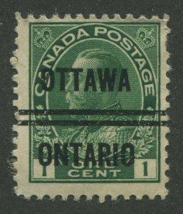 CANADA PRECANCEL OTTAWA 3-104