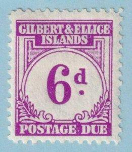 GILBERT & ELLICE ISLANDS J6 POSTAGE DUE  MINT HINGED OG * NO FAULTS EXTRA FINE!