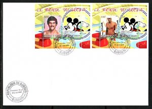 Djibouti, 2008 Cinderella issue. Disney & Olympic Swimmer, First day cover. ^