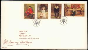 Jersey, Art, Worldwide First Day Cover