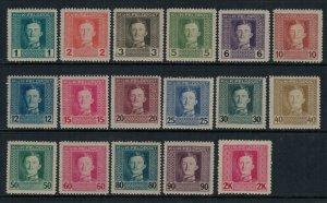 Austria #M49-65*  CV $4.35