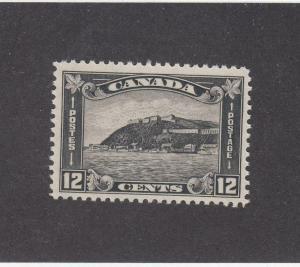 CANADA (MK3544) # 174 VF-MNH  12cts 1930 QUEBEC CITADEL /BLK-GREY CAT VALUE $100