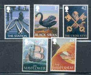 Great Britain Sc 2148-52 2003 Pub Signs stamp set mint NH