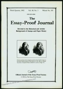 Essay-Proof Journal No193 USPOD 1870-97 Columbians 44686