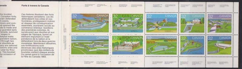 Canada - 1983 32c Forts Pane of 10 in Complete Booklet #BK86