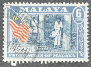DYNAMITE Stamps: Federation of Malaya Scott #80 – USED