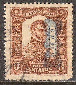 MEXICO 519, 3¢ Corbata reading down Used. F-VF. (214)