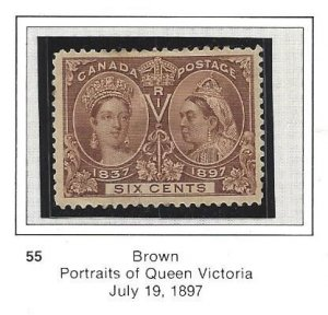 Canada 55 Key to the early Jubilees OG Pretty Stamp CV$220