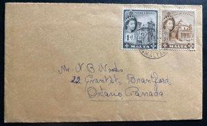 1956 Dingli Malta Cover To Ontario Canada