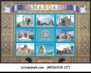 UZBEKISTAN - 2007 2750 YEARS OF SAMARKAND MIN/SHT MNH