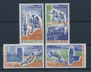 [55383] Mali 1972 Olympic games Judo Football Athletics MNH