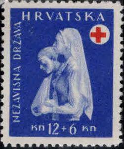 Croatia Scott B49 Mint No Gum 1944 Red Cross semi-postal stamp