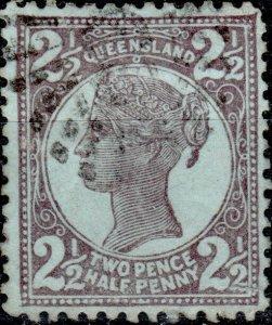 AUSTRALIA / QUEENSLAND 1899 - SG237 2-1/2d purple/blue - Very Fine Used