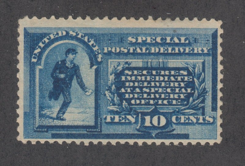 US Sc E1 MLH. 1885 10c blue Special Delivery