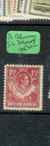 NORTHERN RHODESIA (PP0307B)  KGVI 1 1/2D RED SG 29   MOG